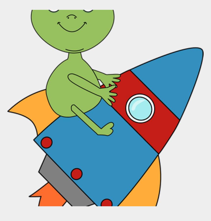 blue alien clipart, Cartoons - Rocket Clipart Alien Riding On A Rocket Clip Art Alien - Space Rocket Png Clipart