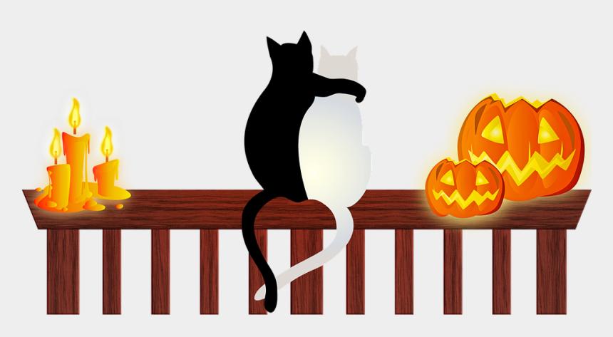 black cat and pumpkin clipart, Cartoons - Halloween Cats Halloween Candle Halloween Pumpkin - Cats Halloween