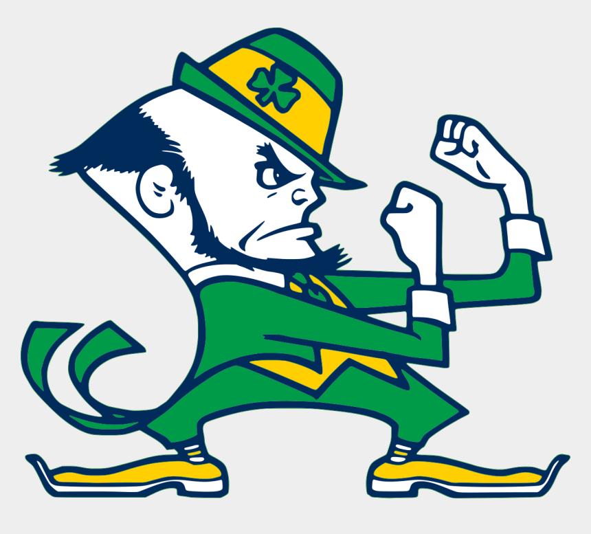 fighting cardinal clipart, Cartoons - The Ursuline Fighting Irish Vs - Notre Dame Fighting Irish Man