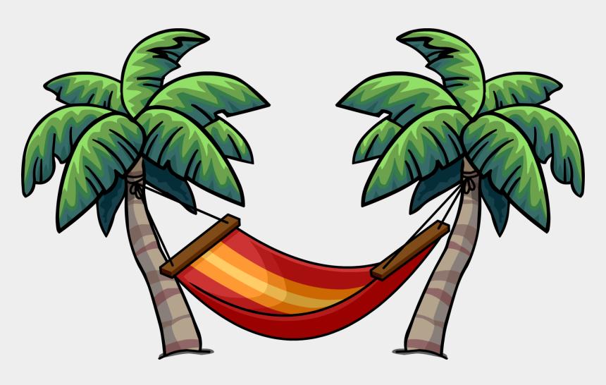 palm tree and hammock clipart, Cartoons - Palm Tree Hammock Clipart