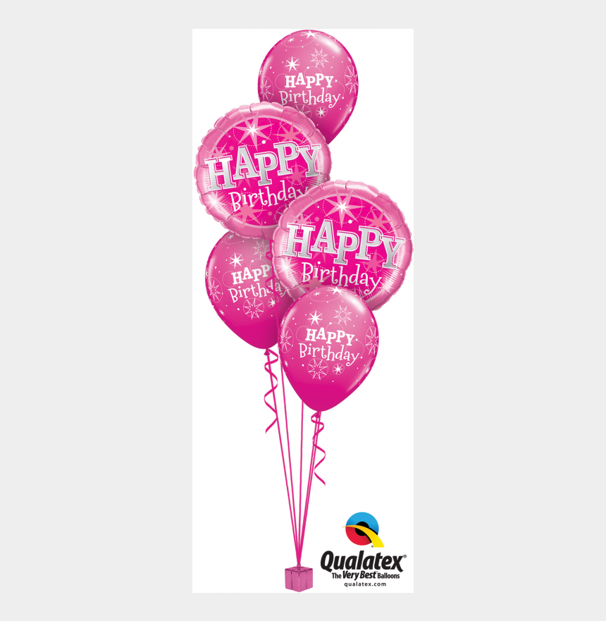 balloon bunch clipart, Cartoons - Balloon Bouquet Png - Pink Birthday Balloons Png