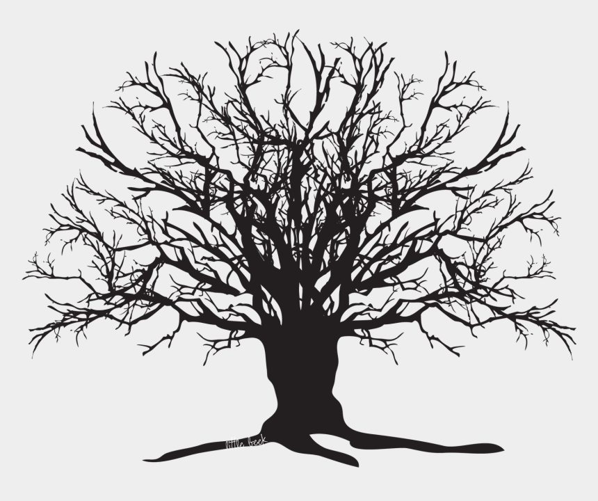 scary forest clipart, Cartoons - It's Fall And That Means - Creepy Tree Silhouette
