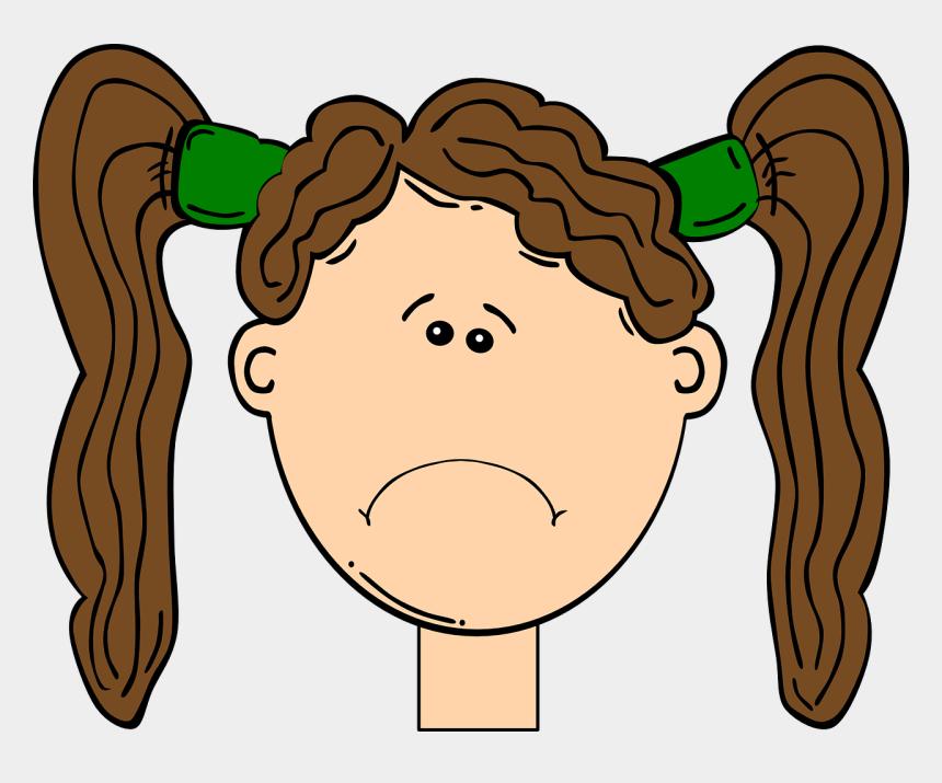 happy and sad clipart, Cartoons - Cartoon Girl Face