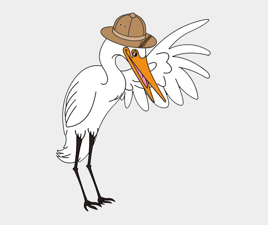 egret clipart, Cartoons - Century Learning, Eco Educational, Kids Series, Elroy - Crane