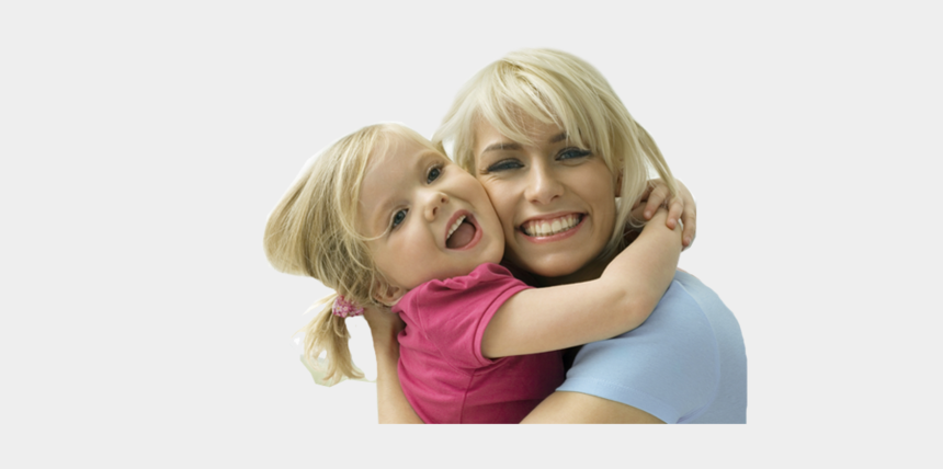 mom hugging child clipart, Cartoons - Girl And Mom Png Pluspng - Mom And Kids Smiling