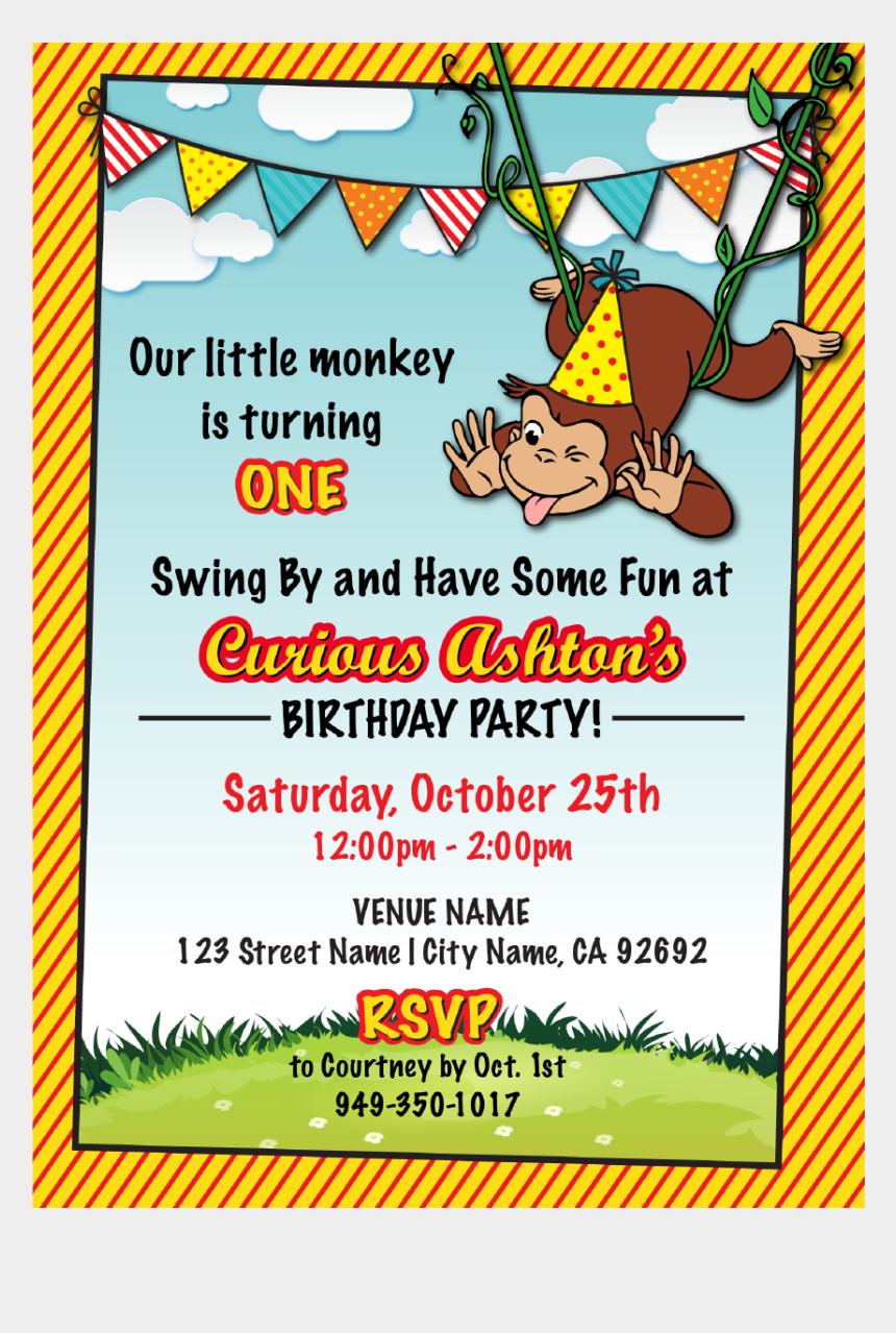 curious george birthday clipart, Cartoons - Poster