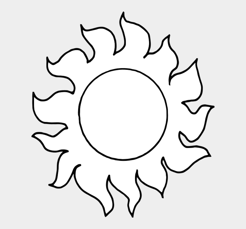 sun beach clipart, Cartoons - Sun Beach Sunshine Summer - Earth Day Clipart Black And White Png
