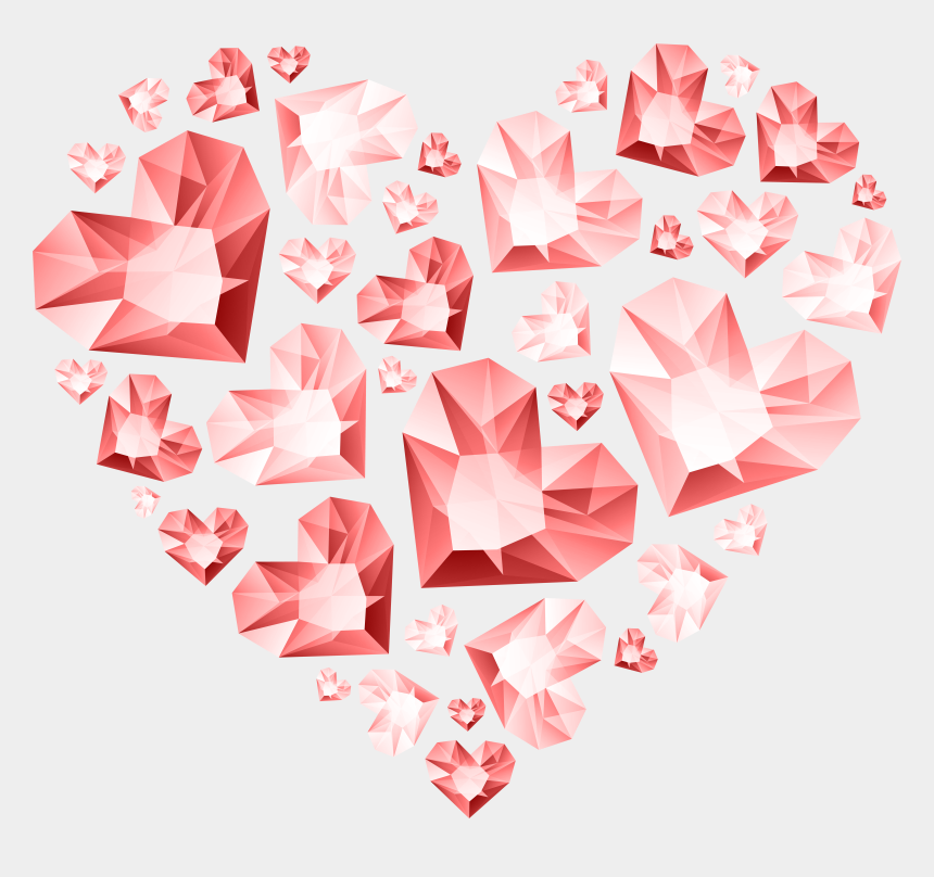 red diamond clipart, Cartoons - Heart Diamond Of Hearts Transparent Red Hert Clipart