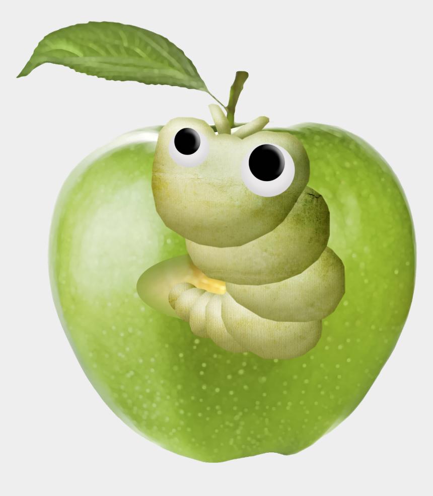 worm in apple clipart, Cartoons - #mq #apple #worm #worms #eat #apples #green - Cartoon