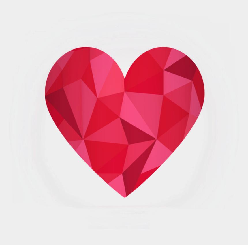red diamond clipart, Cartoons - Heart Diamond Geometry Euclidean Vector Red Clipart - 하트 폴리곤 아트