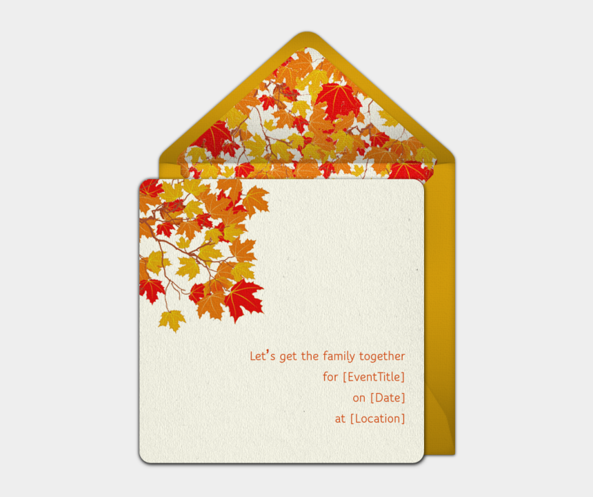 free fall hayride clipart, Cartoons - Beautiful Free Fall Party Invitations - Autumn Leaves Background