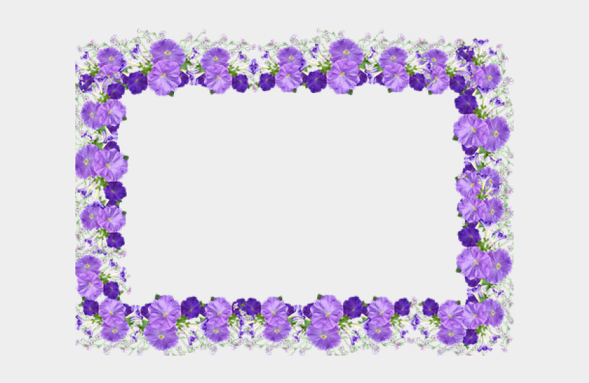 mexican flowers clipart border, Cartoons - Petunia Clipart Border - Picture Frame