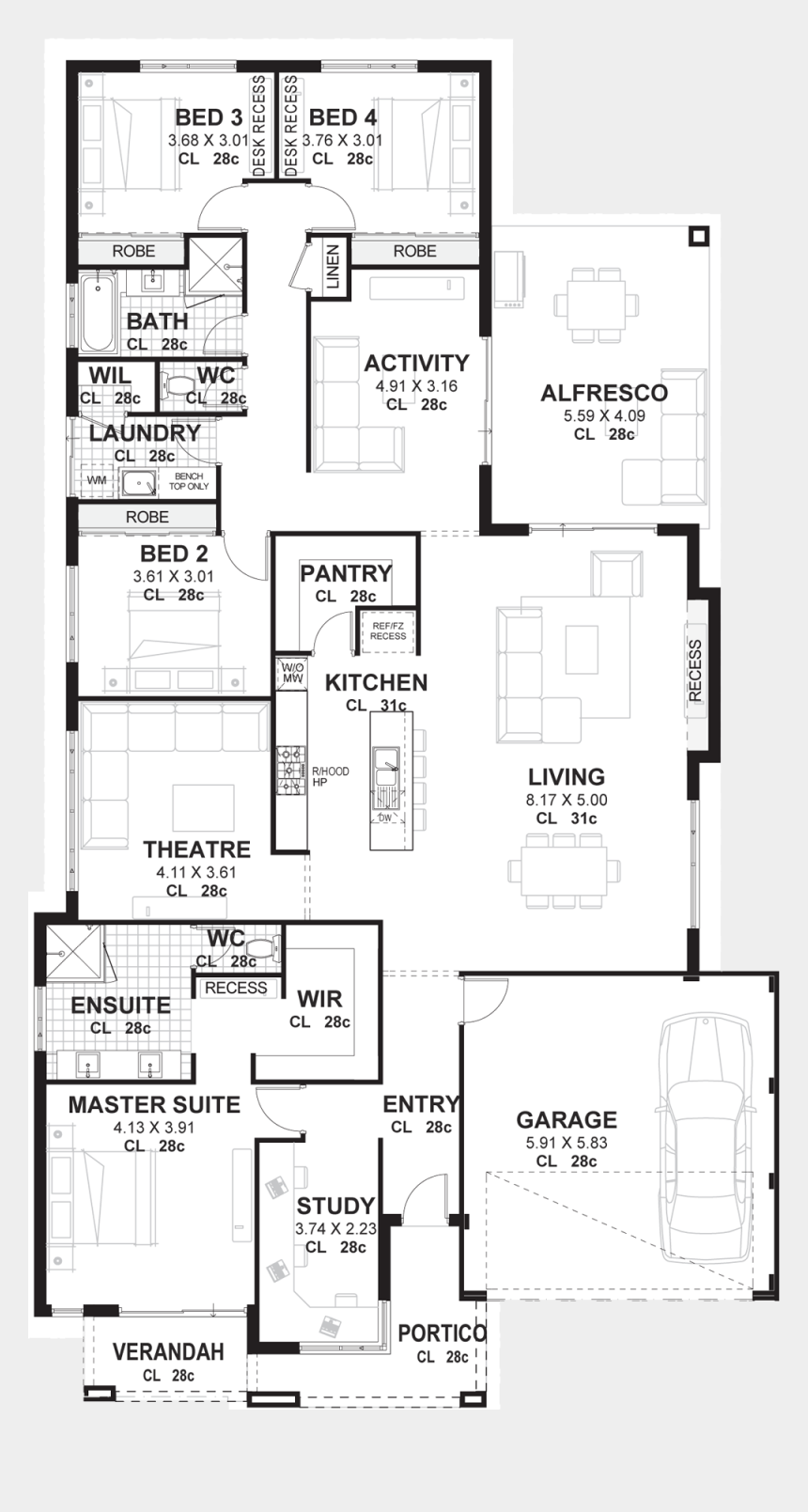 Png Files For Floor Plans - Plan For 9 Bedroom House, Cliparts