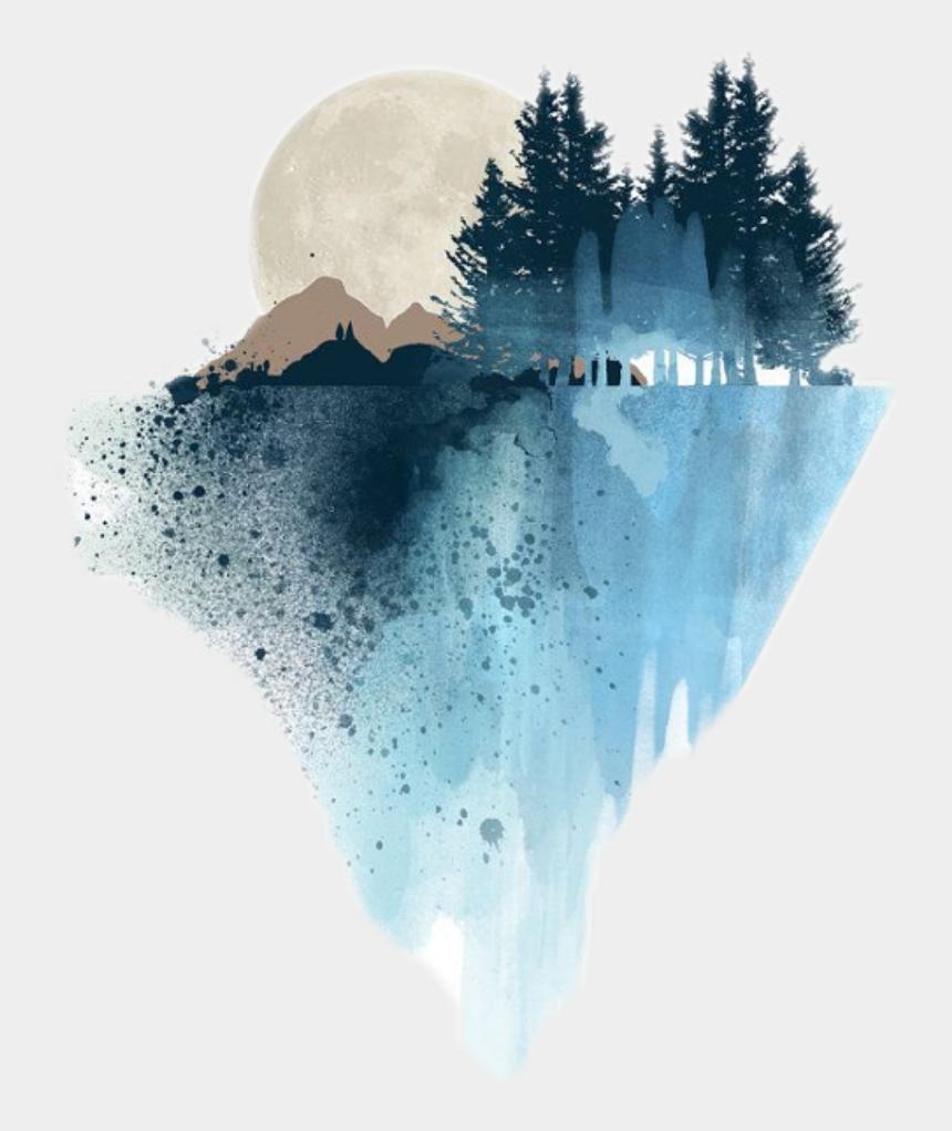 mountain scenery clipart, Cartoons - #edits #watercolor #mountain #scenery #art #stickers - Watercolor Art