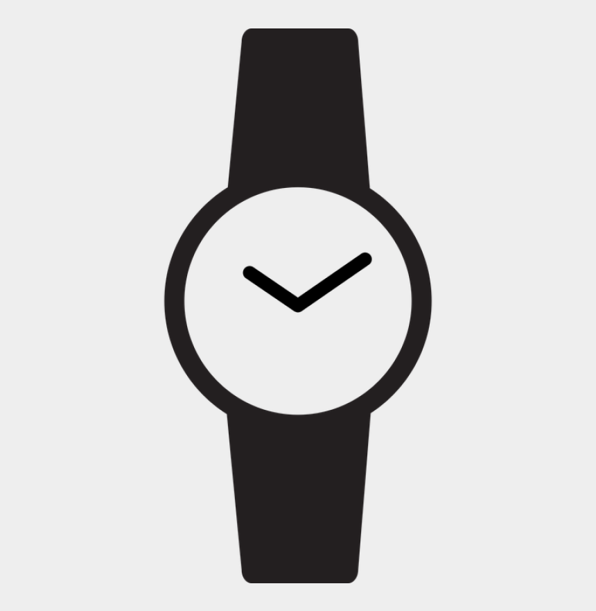 digital watch clipart, Cartoons - Watch Icon Wrist Free Vector Graphic On Pixabay - Black And White Watch Clipart