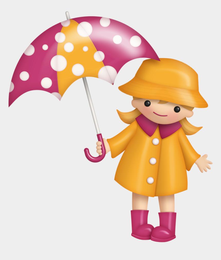 dancing in the rain clipart, Cartoons - B *✿* Sunshine Rain - Girl In Rain Hat Clipart