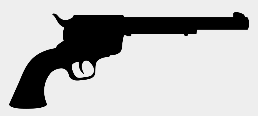 9mm clipart, Cartoons - Clipart Of Trigger And Airgun - 44 Single Action Revolver