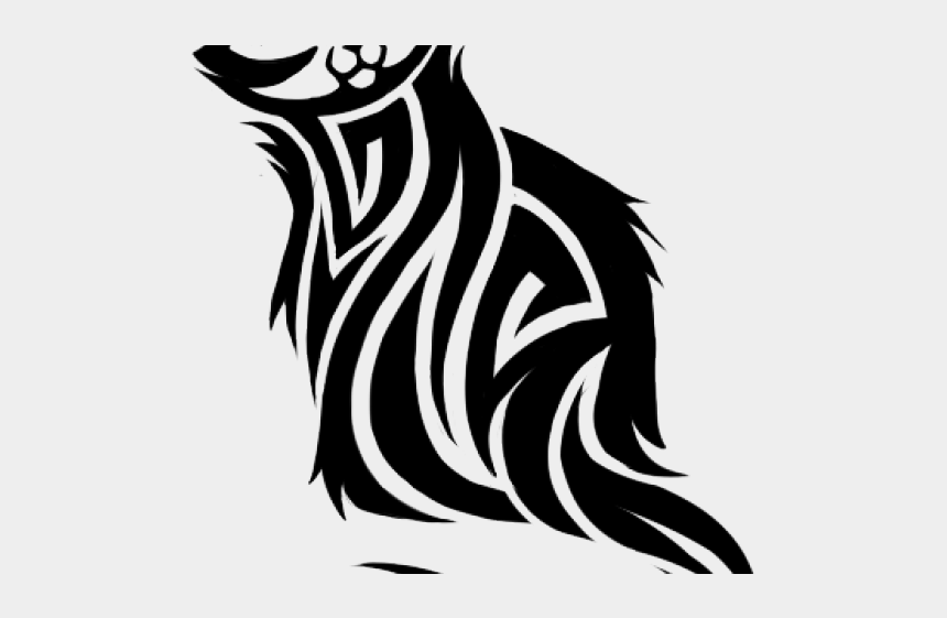 tribal tiger clipart, Cartoons - Cheshire Cat Clipart Tribal - Cat Tattoo Png
