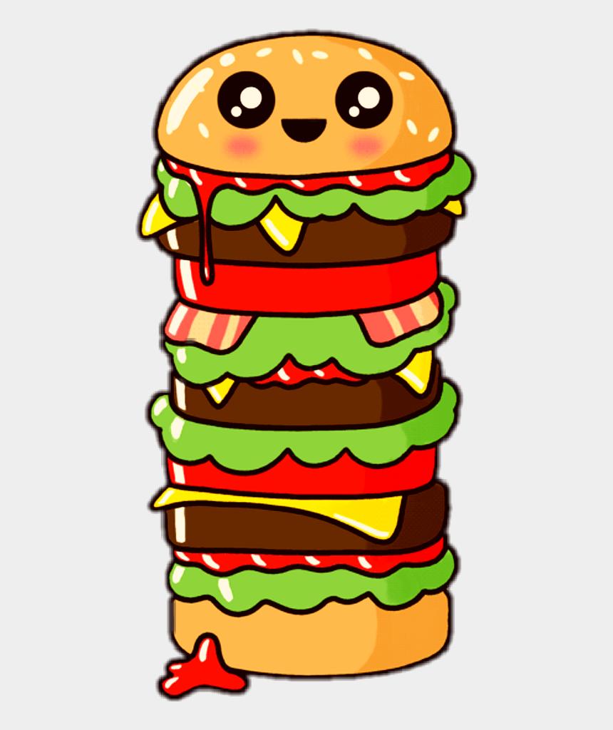 junk food snacks clipart, Cartoons - Cute Food Gif Transparent Clipart , Png Download - Hamburger Gif