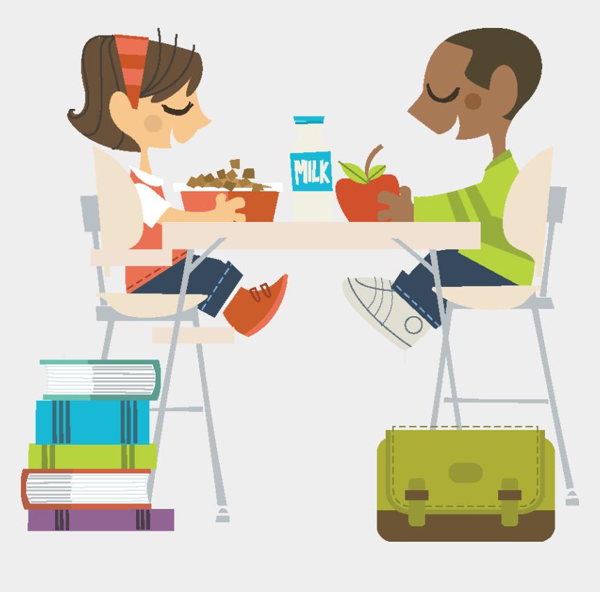kids eating breakfast at school clipart, Cartoons - Contact Us - Breakfast In The School