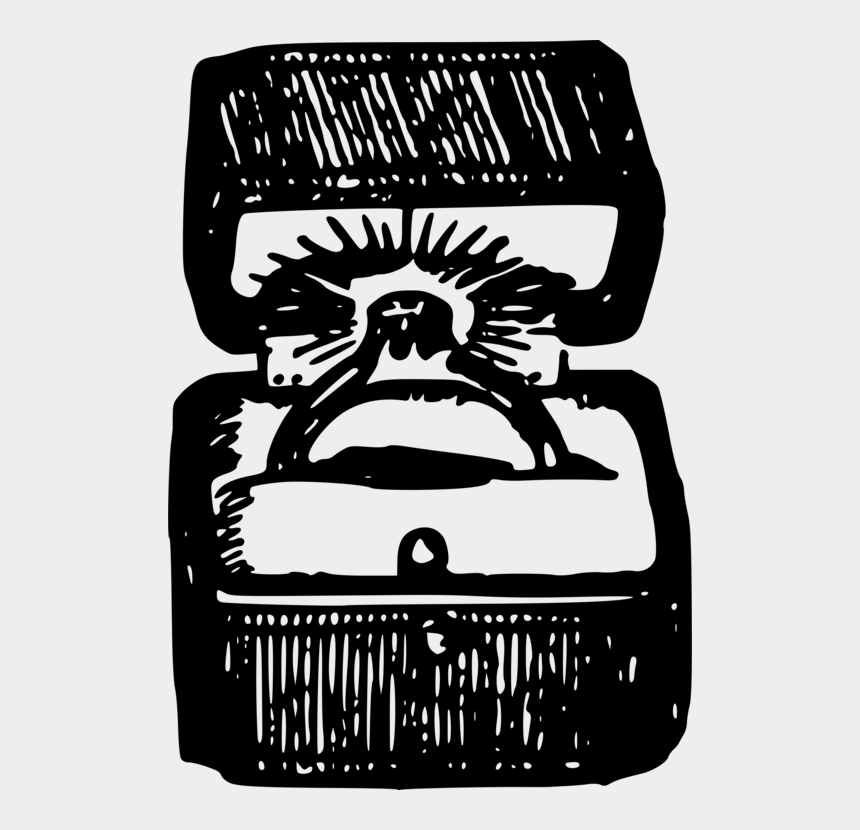 wedding ring box clipart, Cartoons - Wedding Ring Monochrome Logo Cartoon