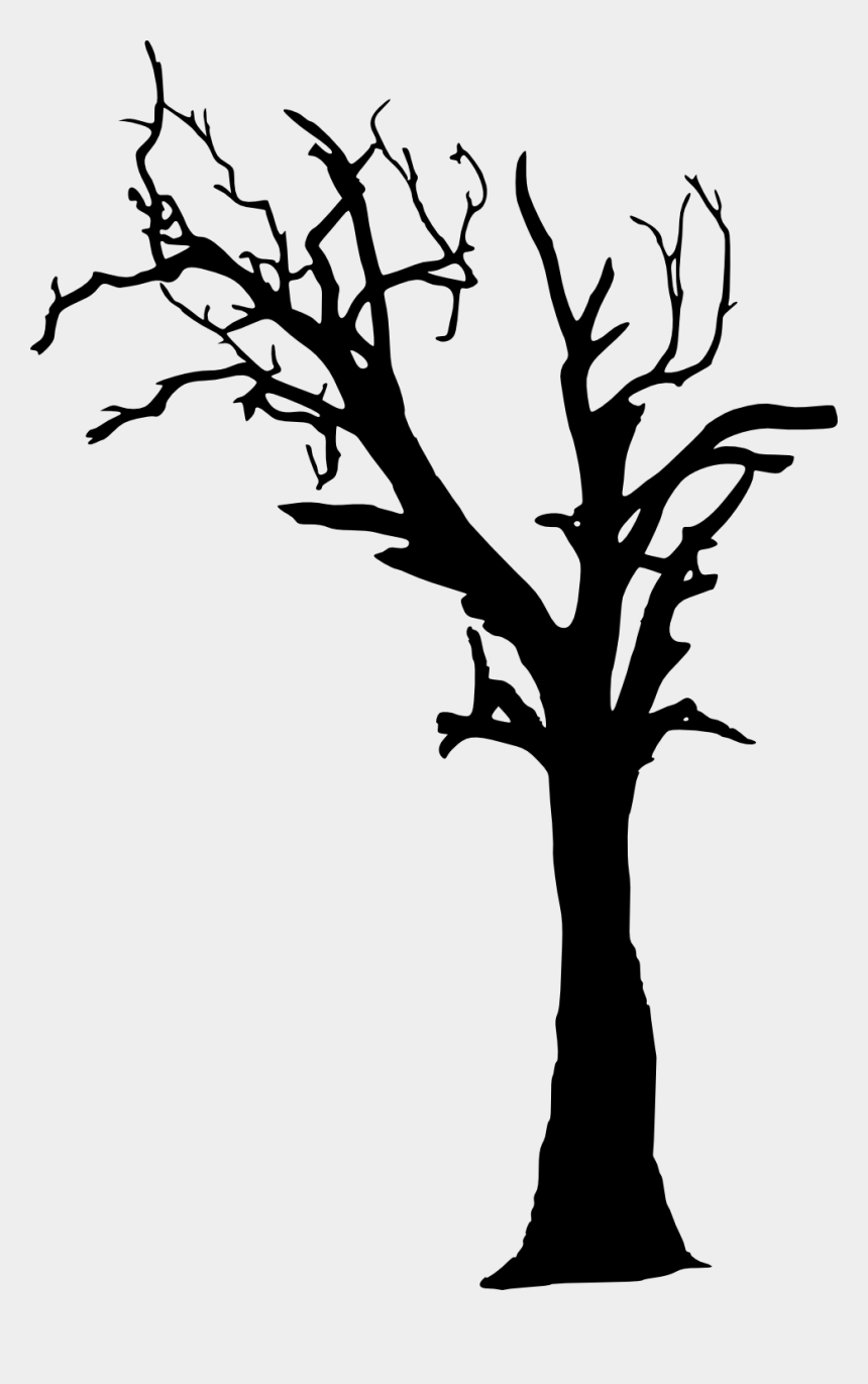 spooky forest clipart, Cartoons - Free Download - Dead Tree Silhouette Png