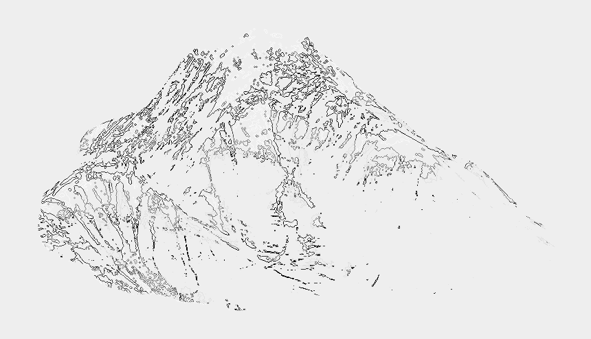 mountain sketch clipart, Cartoons - Avalanche Drawing Mountain - Sketch