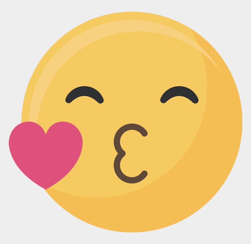 kiss emoji clipart, Cartoons - Kiss Emoji Love Sticker - Emoticono Beso
