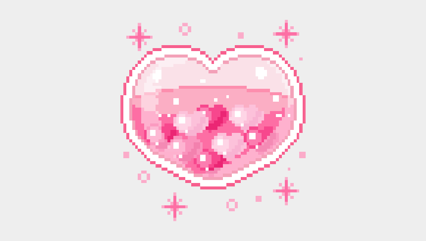 half heart clipart, Cartoons - Halfheart Sticker - Kawaii Pixel Art Gif