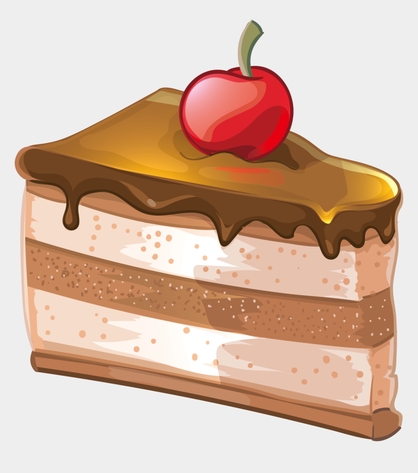 slice of chocolate cake clipart, Cartoons - Cake Vector Png - Chocolate Cake