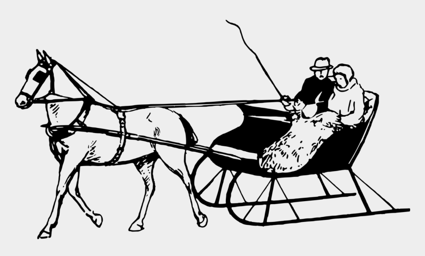 horse and sleigh clipart, Cartoons - Horse And Sleigh Drawing