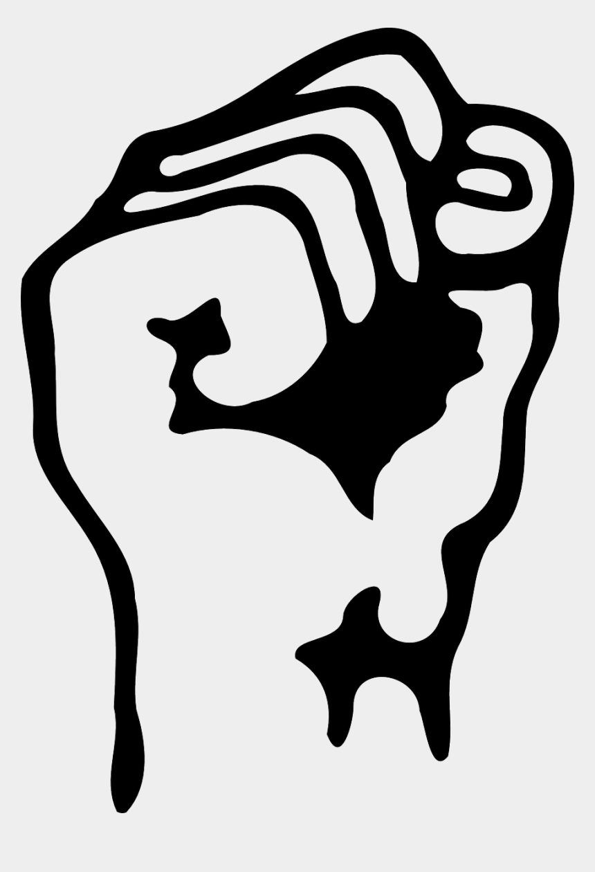 black power fist clipart, Cartoons - Black And White Fist Clip Art N10 - Power To The People Transparent