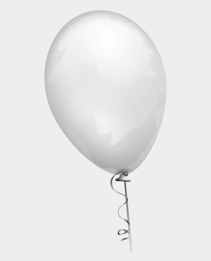 party balloons clipart black and white, Cartoons - White Vector Balloon Png