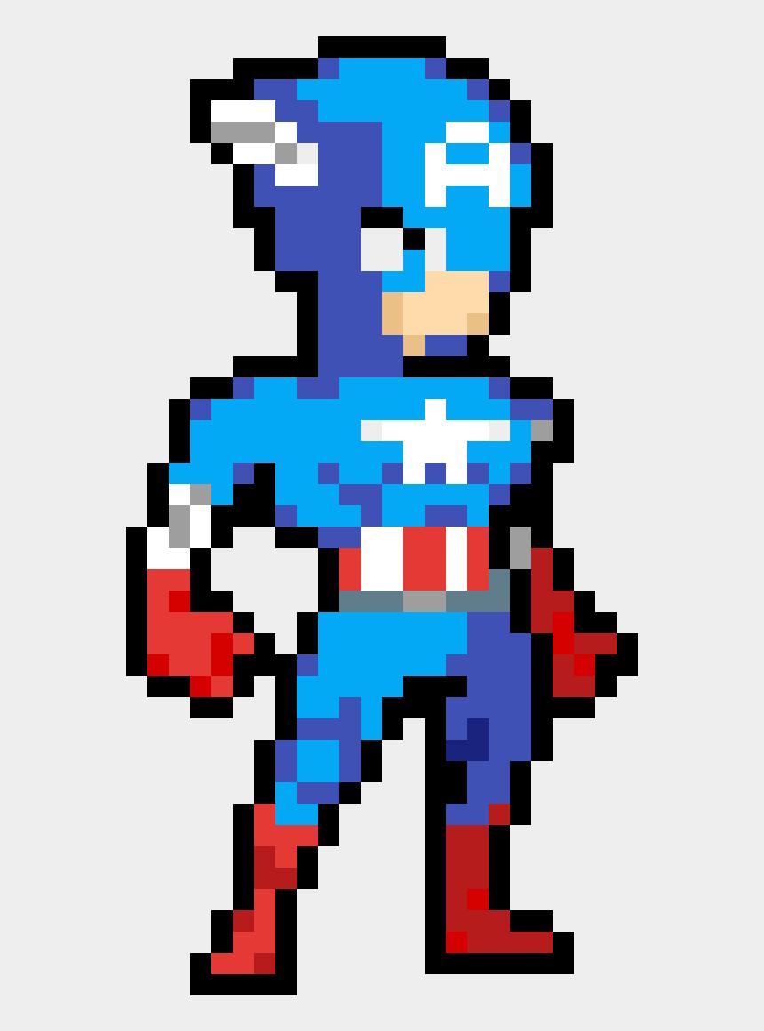 Pixel Super Heroes Dessin Pixel Captain America Cliparts Cartoons Jing Fm