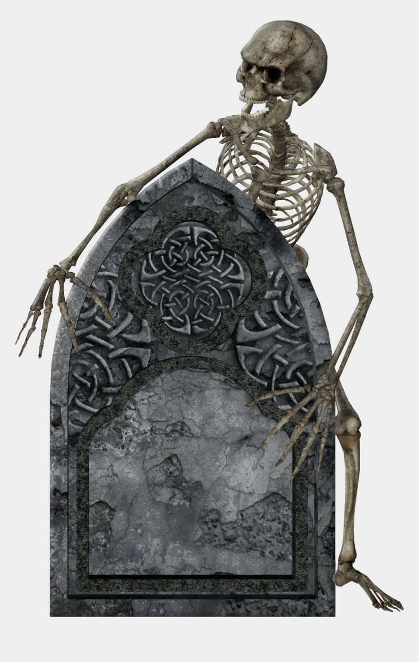 graveyard background clipart, Cartoons - Headstone And Skeleton - Skeleton With Tombstone