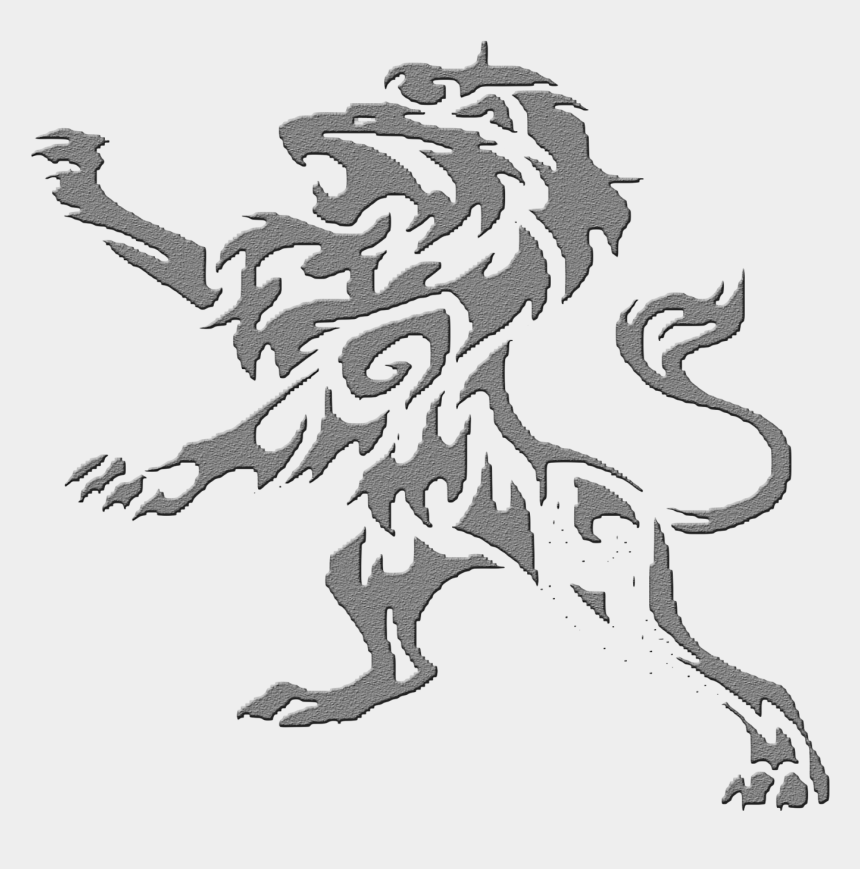 leo the lion clipart, Cartoons - Tattoo Lion Leo Sleeve Artist Png Download Free - Black Tribal Lion Tattoos