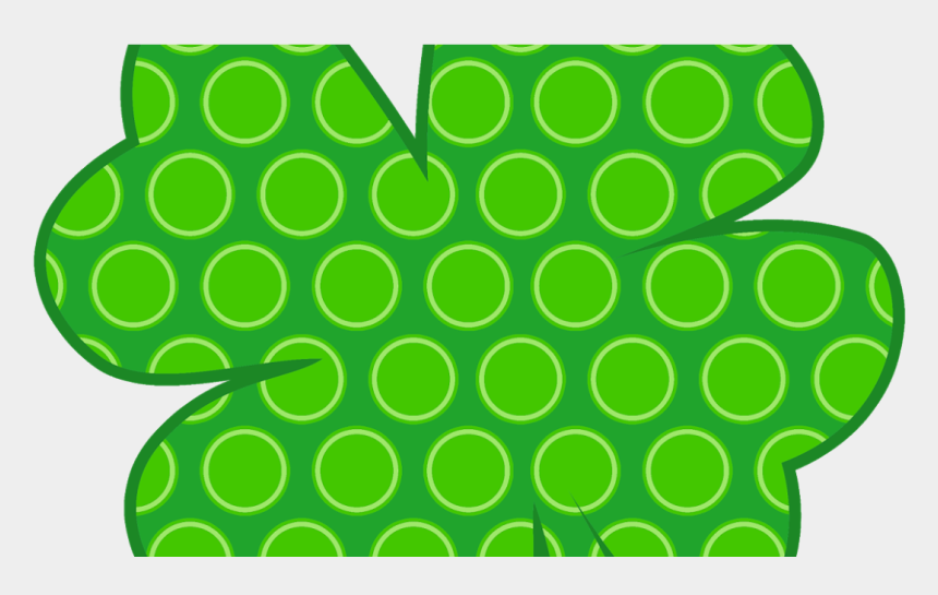 march newsletter clipart, Cartoons - Shamrock With Polka Dots