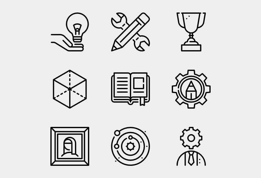 knowledge is power clipart, Cartoons - Knowledge Vector - Web Design Line Icon