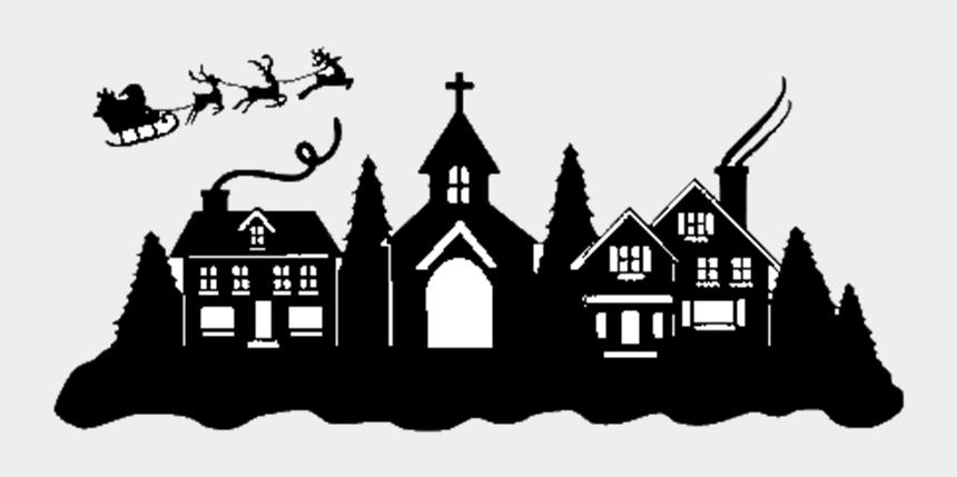 house foundation clipart, Cartoons - Christmas Home Tour Logo - Printable Christmas Village Silhouette