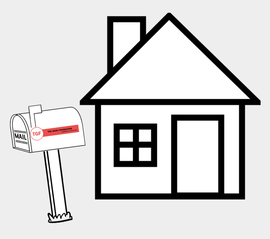 house foundation clipart, Cartoons - The Good Foundation Is A Structured Recovery House - Outline House Clipart Black And White
