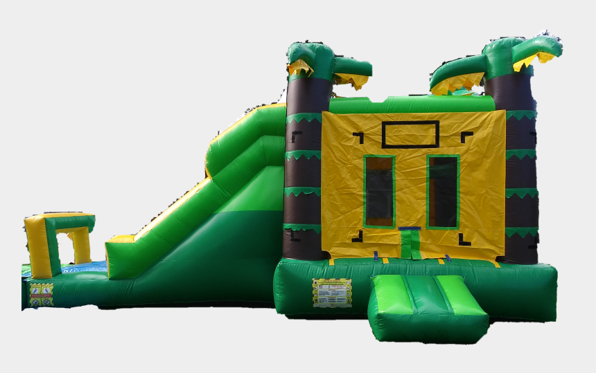 blow up water slide clipart, Cartoons - Palm Tree 4in1 Castle With Bounce, Hoop, Climb, & Slide - Inflatable