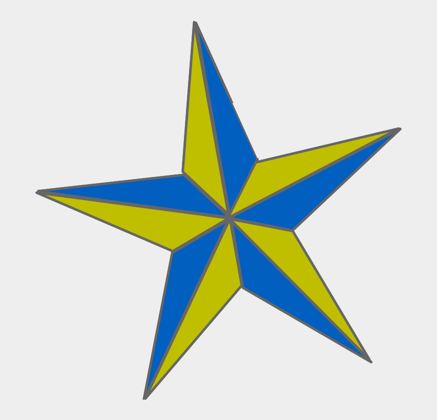 gold star clipart, Cartoons - Star Svg Clip Arts 576 X 599 Px - Blue And Gold Star