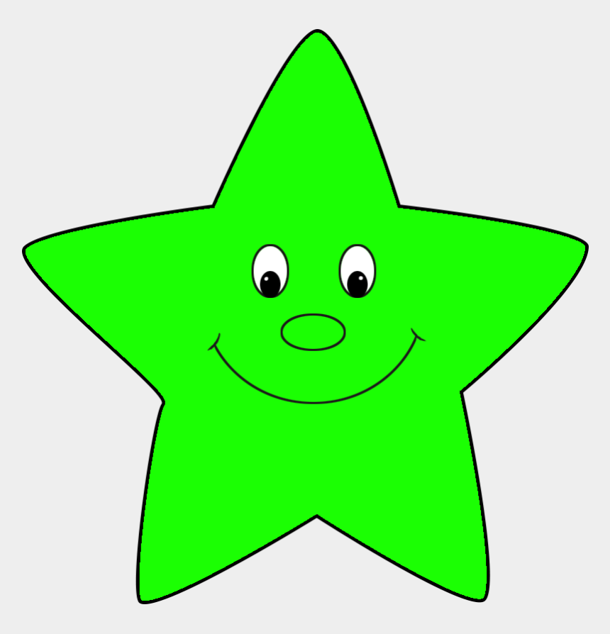 gold star clipart, Cartoons - Star Clipart - Green Star With Face