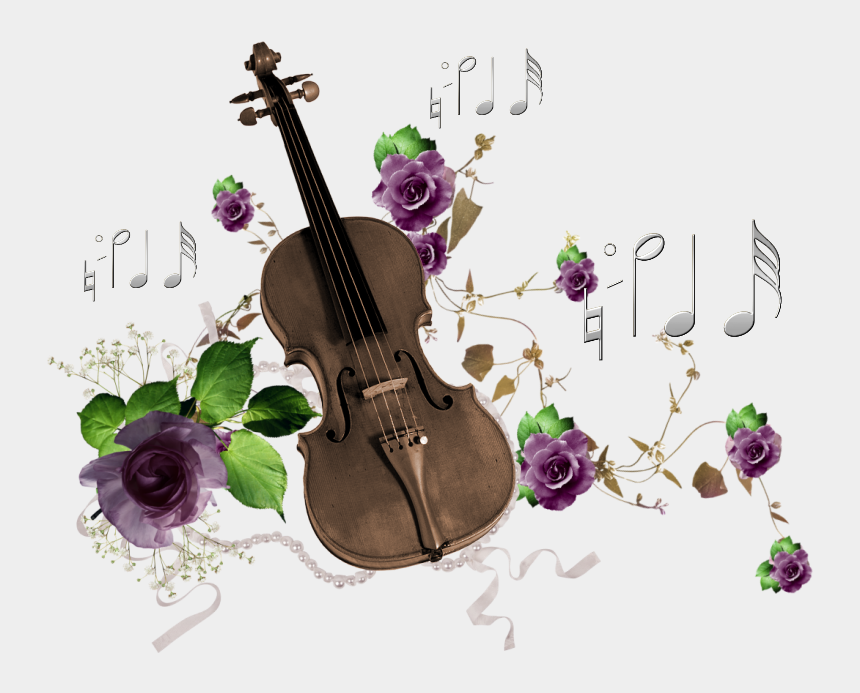 musical instruments clipart, Cartoons - Guitar Roses Painted Purple Musical Note Instrument - Flower Music Note Png