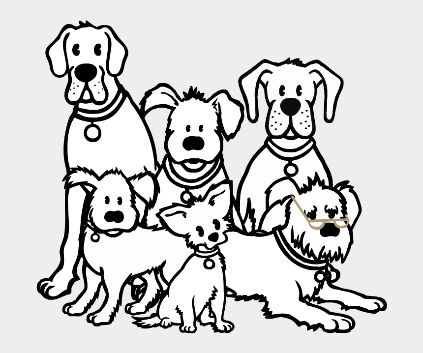 Group Of Dogs Png Black And White Transparent Group Bunch Of Dogs Drawing Cliparts Cartoons Jing Fm