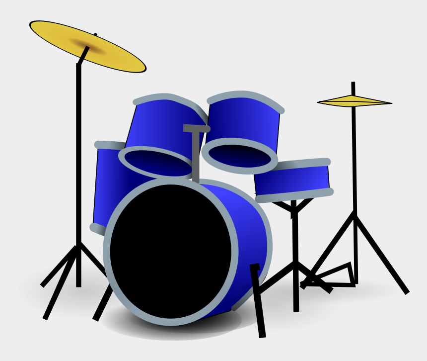 musical instruments clipart, Cartoons - Instrument Clipart Cymbal - Drum Set Clipart