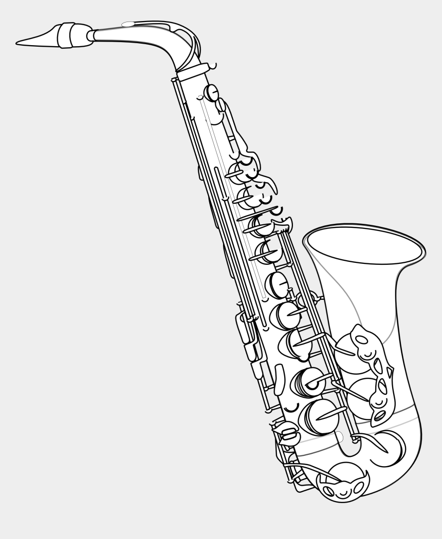 musical instruments clipart, Cartoons - Saxophone Jazz Musical Instrument Free Picture - Alto Saxophone Drawing