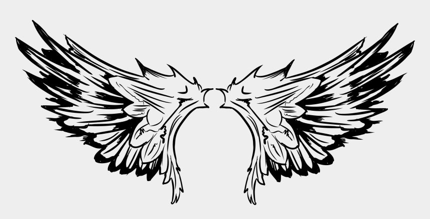bird clipart black and white, Cartoons - Tattoo Of Pro Wings Vector The Bird Clipart - Tribal Flying Eagle Tattoo