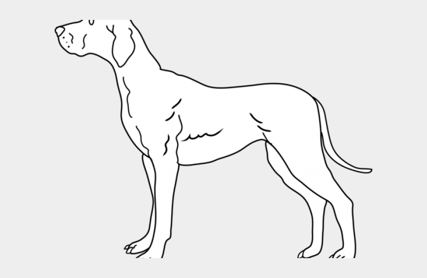 dog clipart black and white, Cartoons - Black And White Dog Clipart - Great Dane