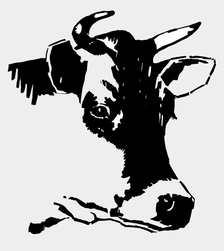 cow clipart black and white, Cartoons - Cow Head Clipart Black And White - Clipart Black And White Cow